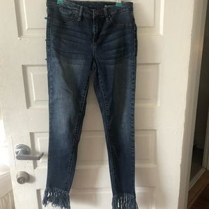 Blank NYC jeans with fringe detail